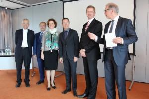 v.l.n.r.: Jürgen Lauber, Prof. Norbert Preuss, Dr. Ailke Heidemann, Prof. Horst Roman-Müller, Dr. Patrick Wenzel, Prof. Klaus Eschenbruch